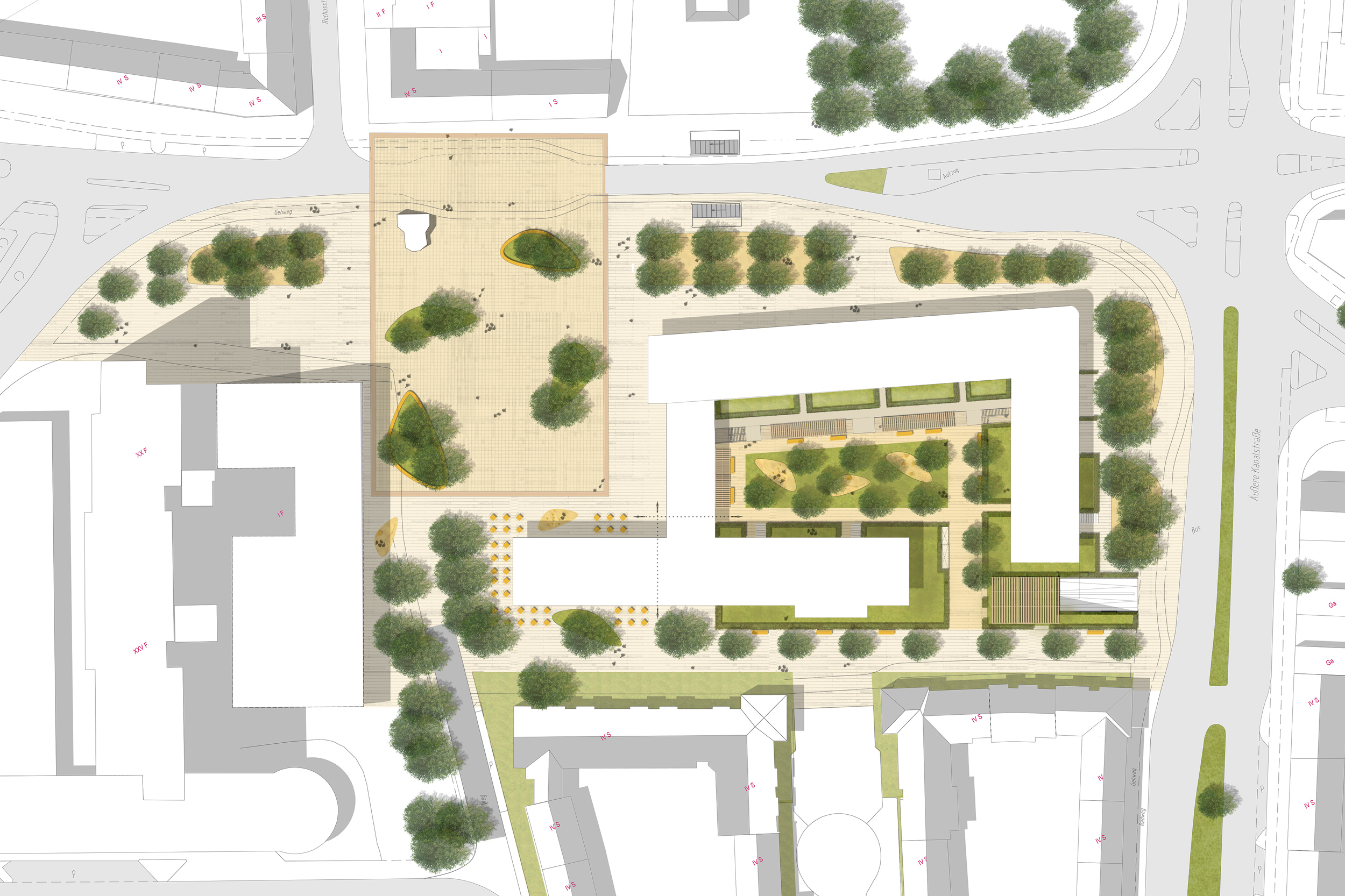 Rochusplatz Lageplan