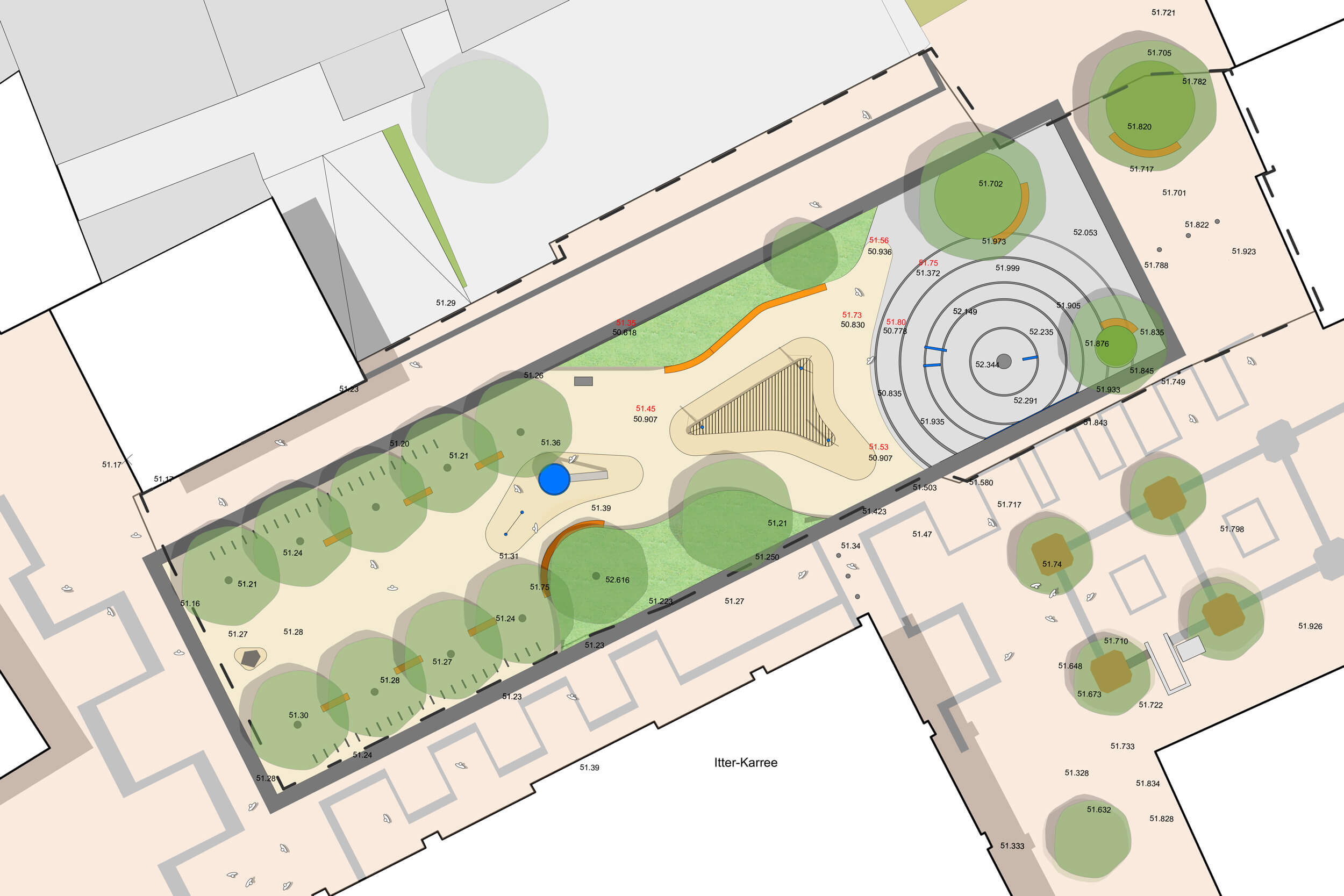 Lageplan Warrington Platz
