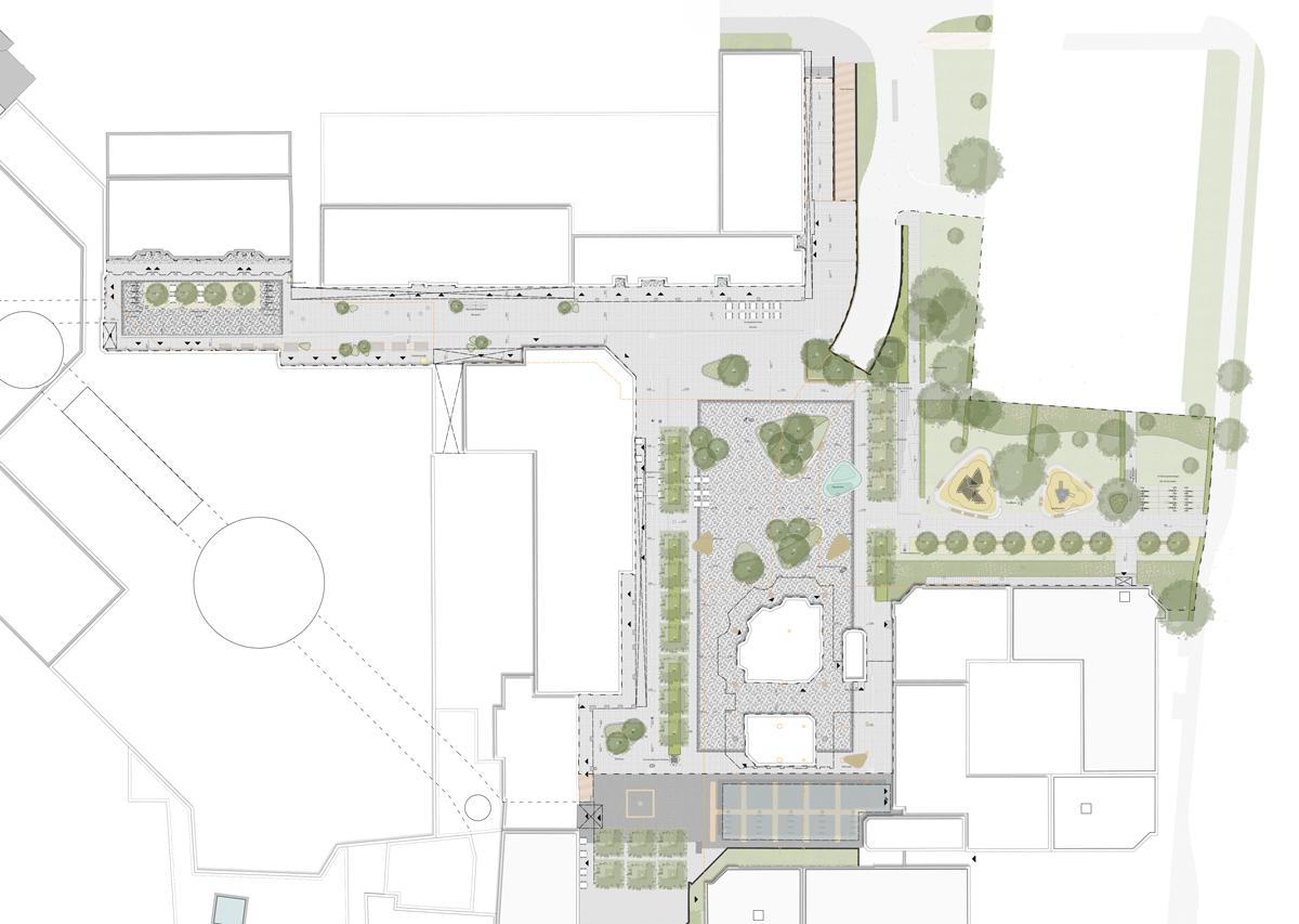 Konrad-Adenauer-Platz Lageplan Entwurf