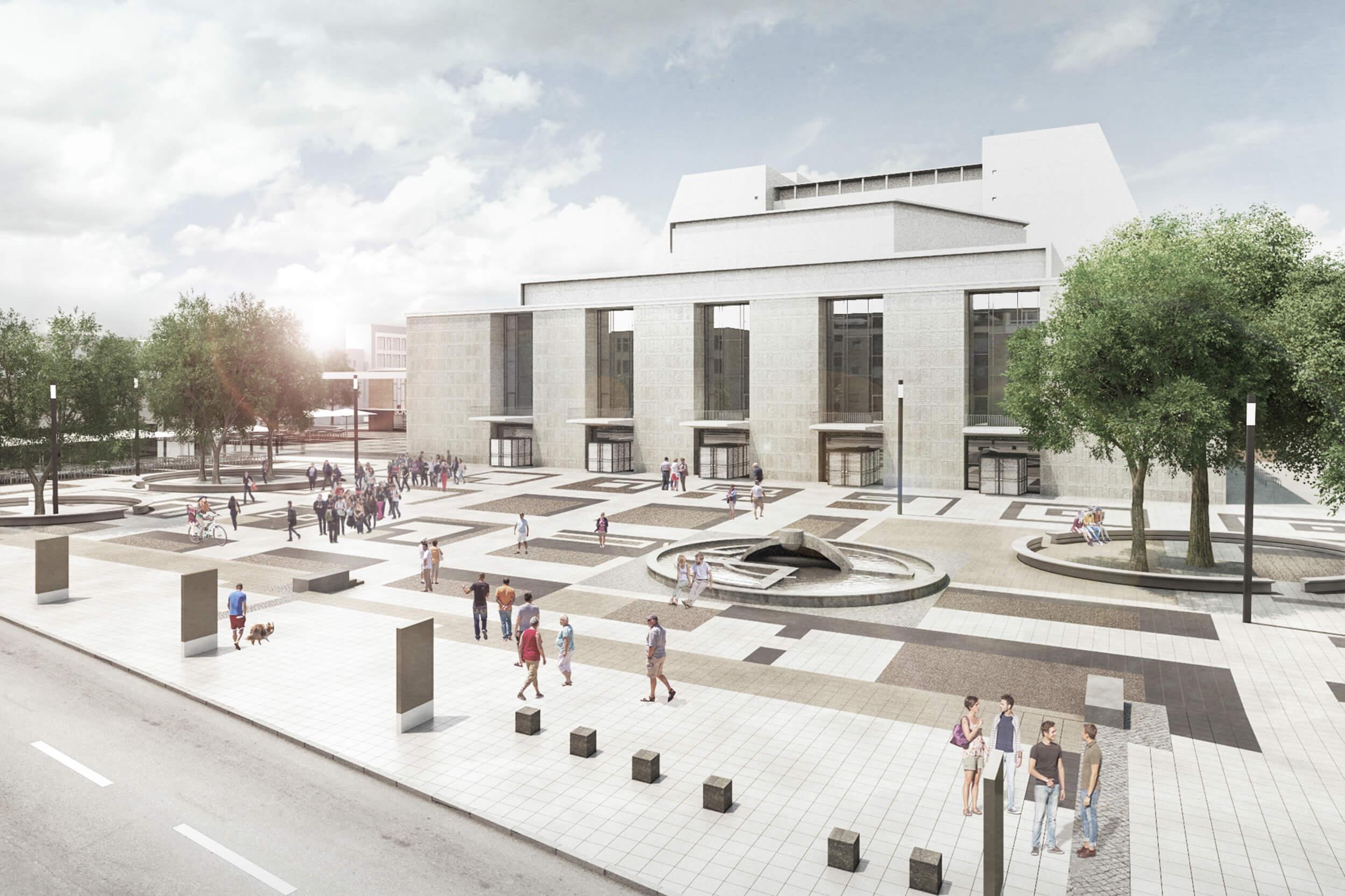 Moeblierung Offenbachplatz - Ansicht Grosser Offenbachplatz