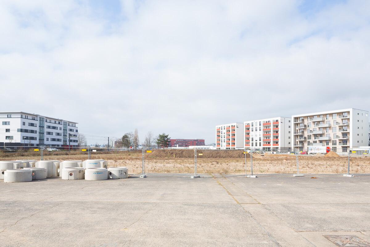 Bauphase Parkanlage Butzweilerhof