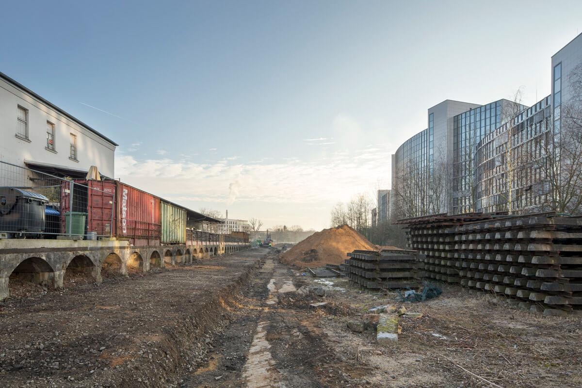 Bauphase Stadt-Natur-Park Flingern