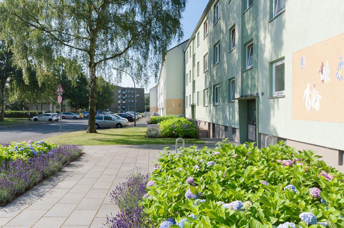 Außenanlagen Wohnbebauung Gerhart-Hauptmann-Straße