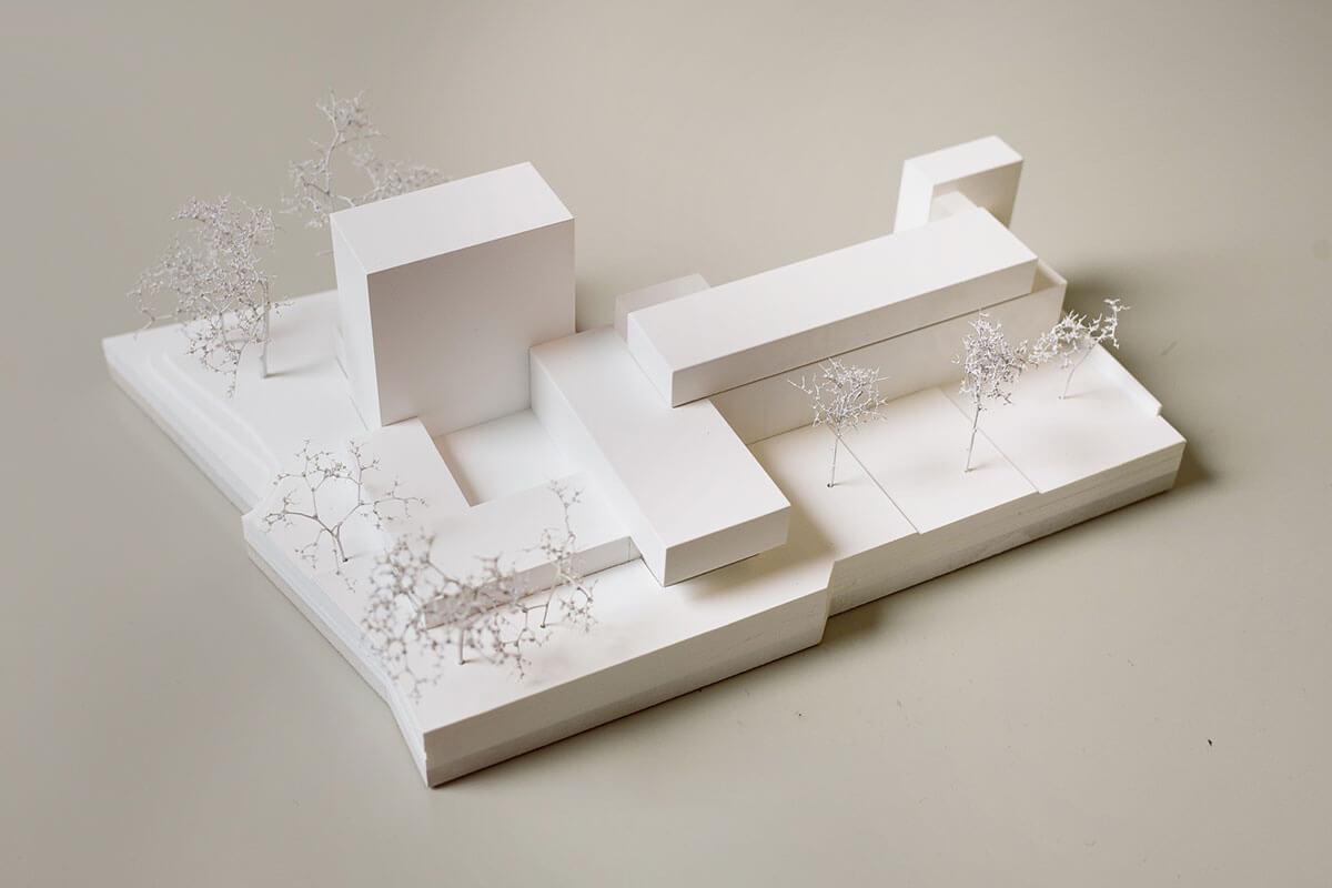 Stadtbibliothek Moenchengladbach - Modell