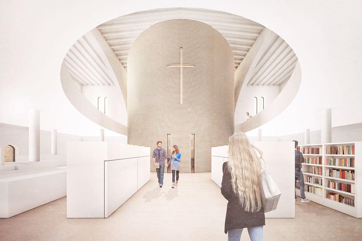 Visualisierung Katholische Kirche und Pfarrheim St. Augustinusurg