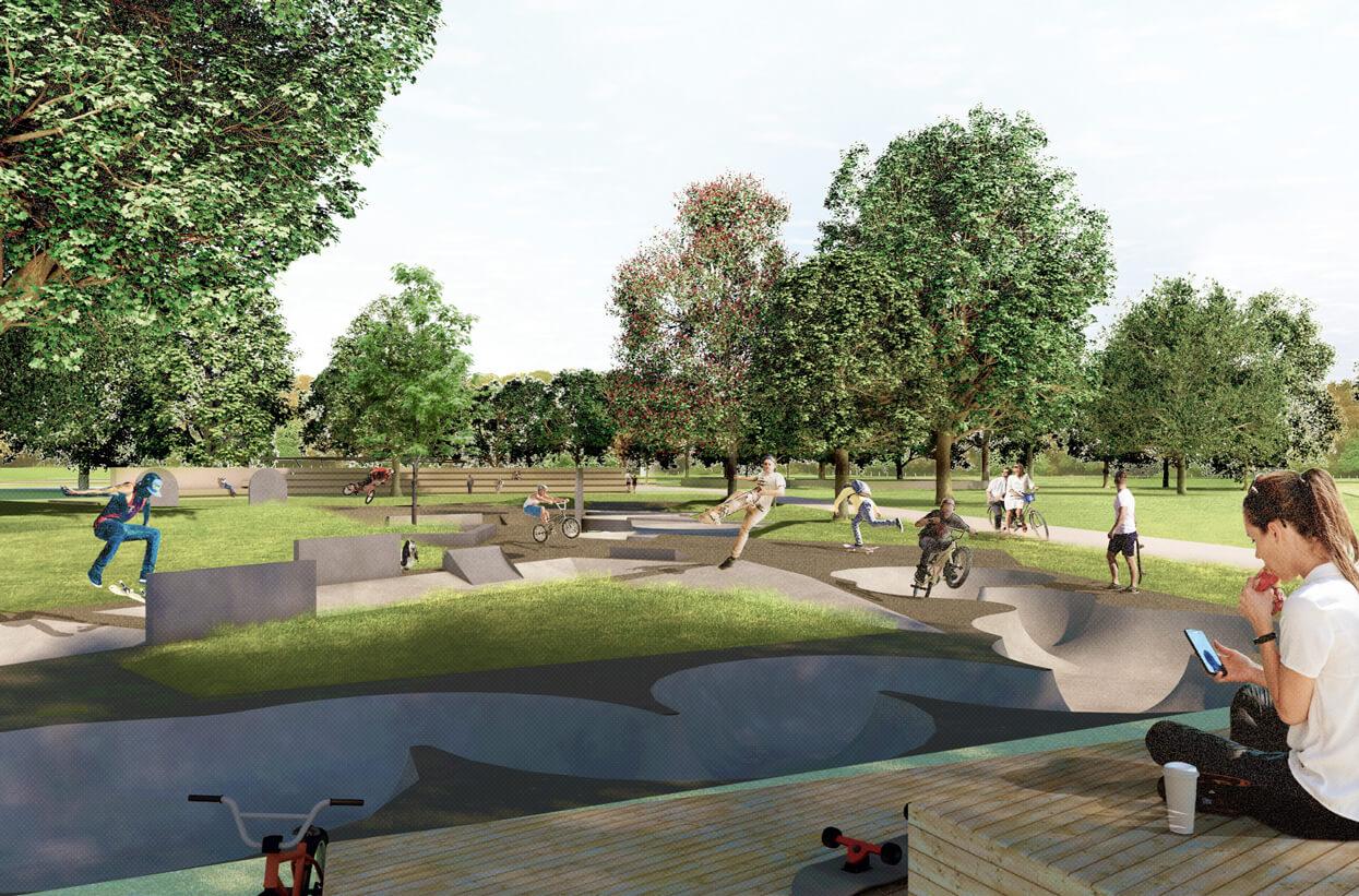 Erlebnisort Freizeitpark Moers Ansicht Skatepark