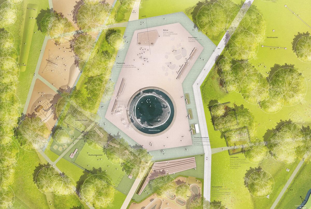 Erlebnisort Freizeitpark Moers Detailplan Plaza