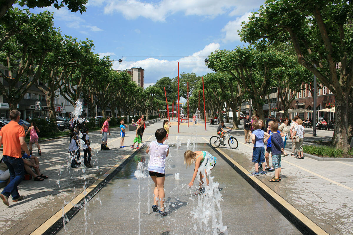 Wasserspiel Saporoshje Platz