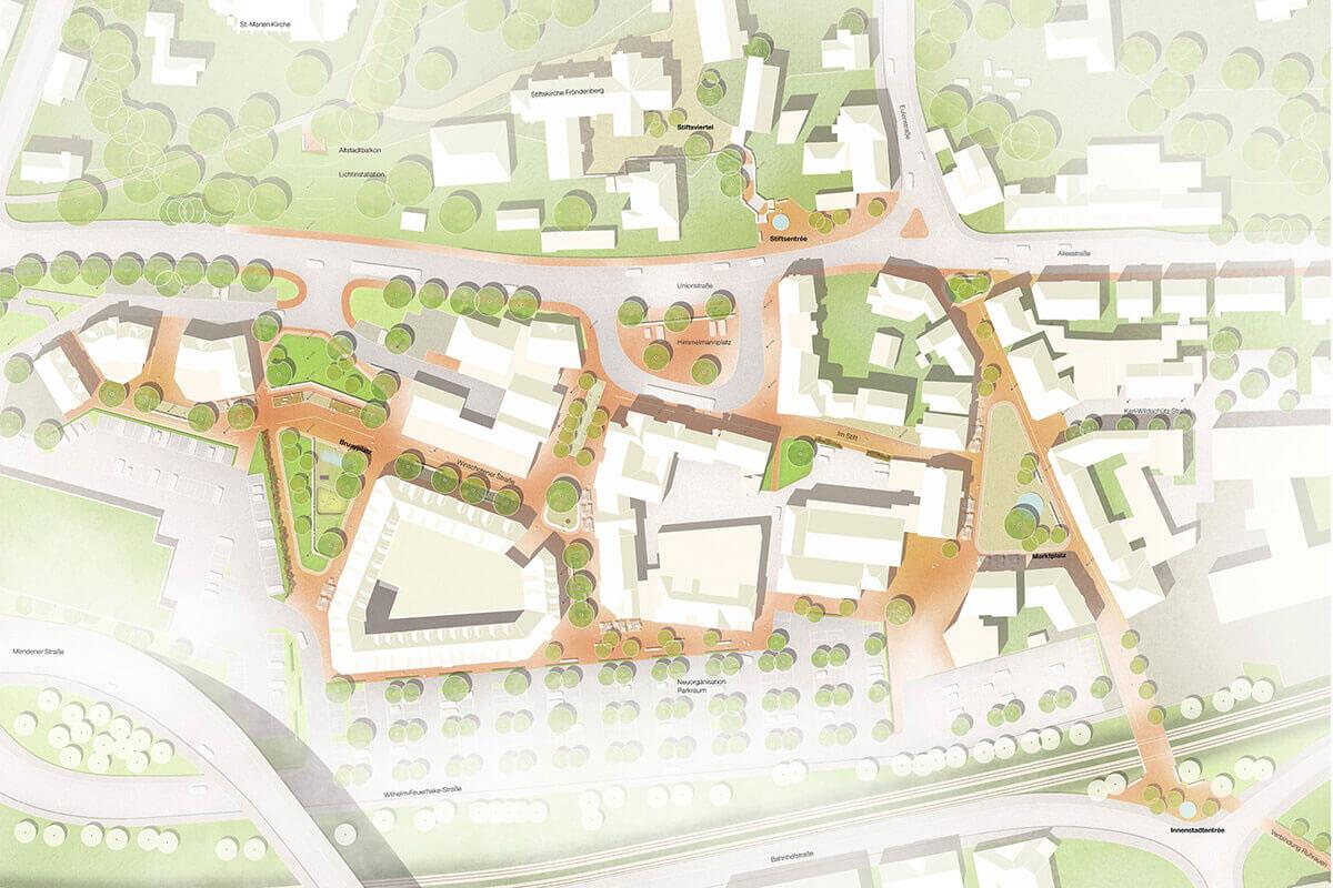 Innenstadt Froedenberg - Lageplan