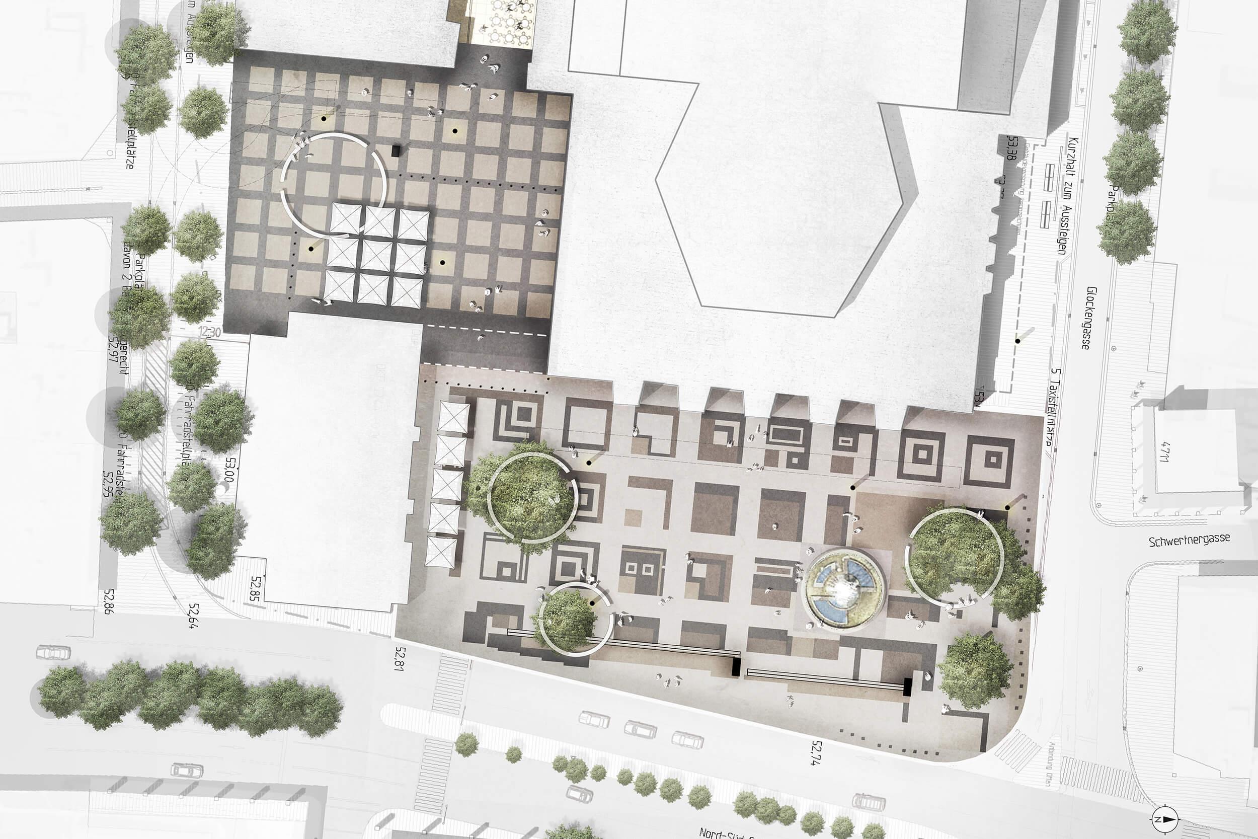 Lageplan Moeblierung Offenbachplatz