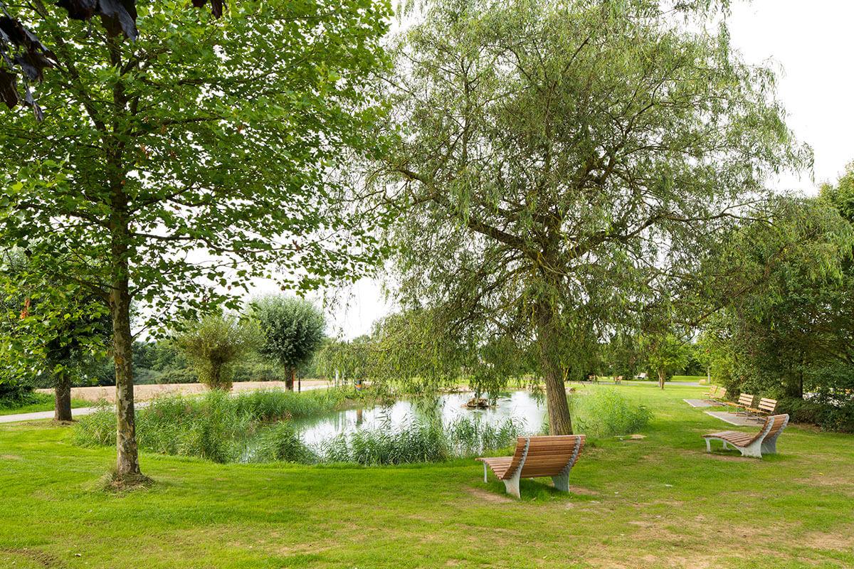 Parc Kaltreis revitalisierter Teich