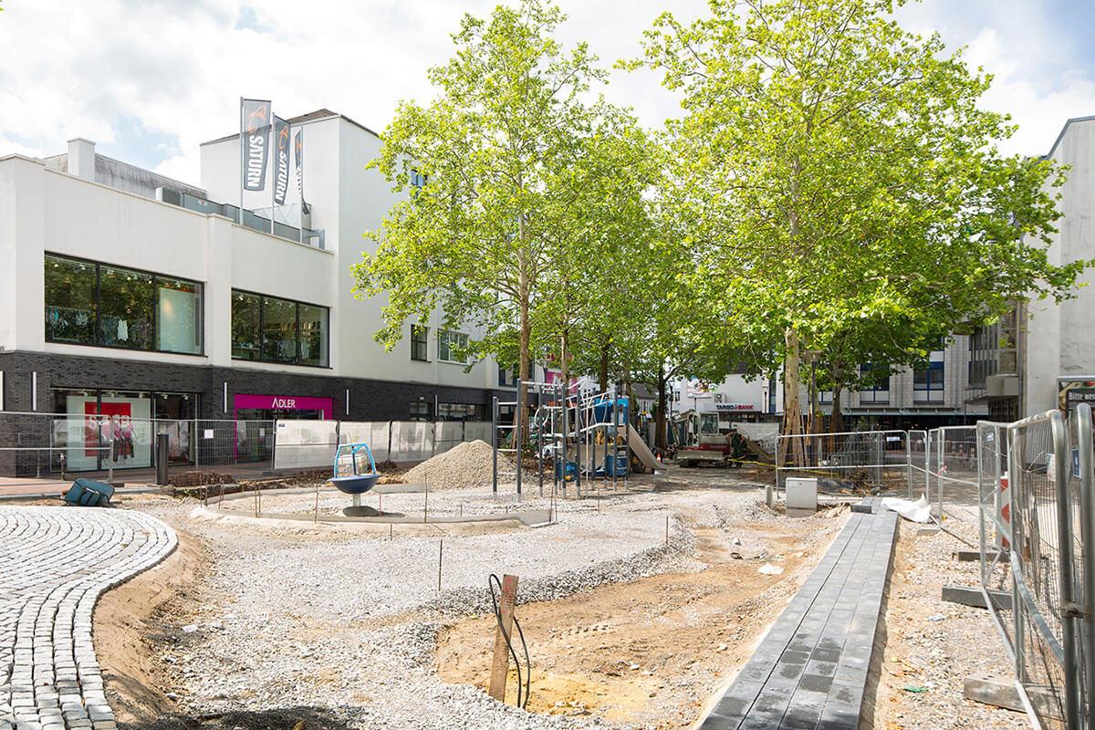 Bauphase Warrington Platz