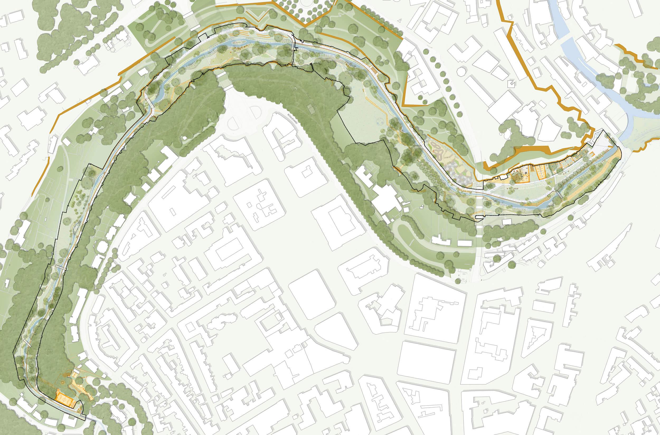 Vallée de la Pétrusse Entwurfsplan