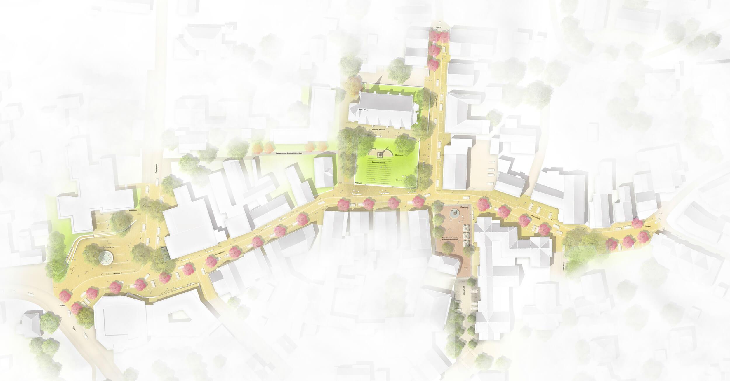 Innenstadt Versmold Lageplan
