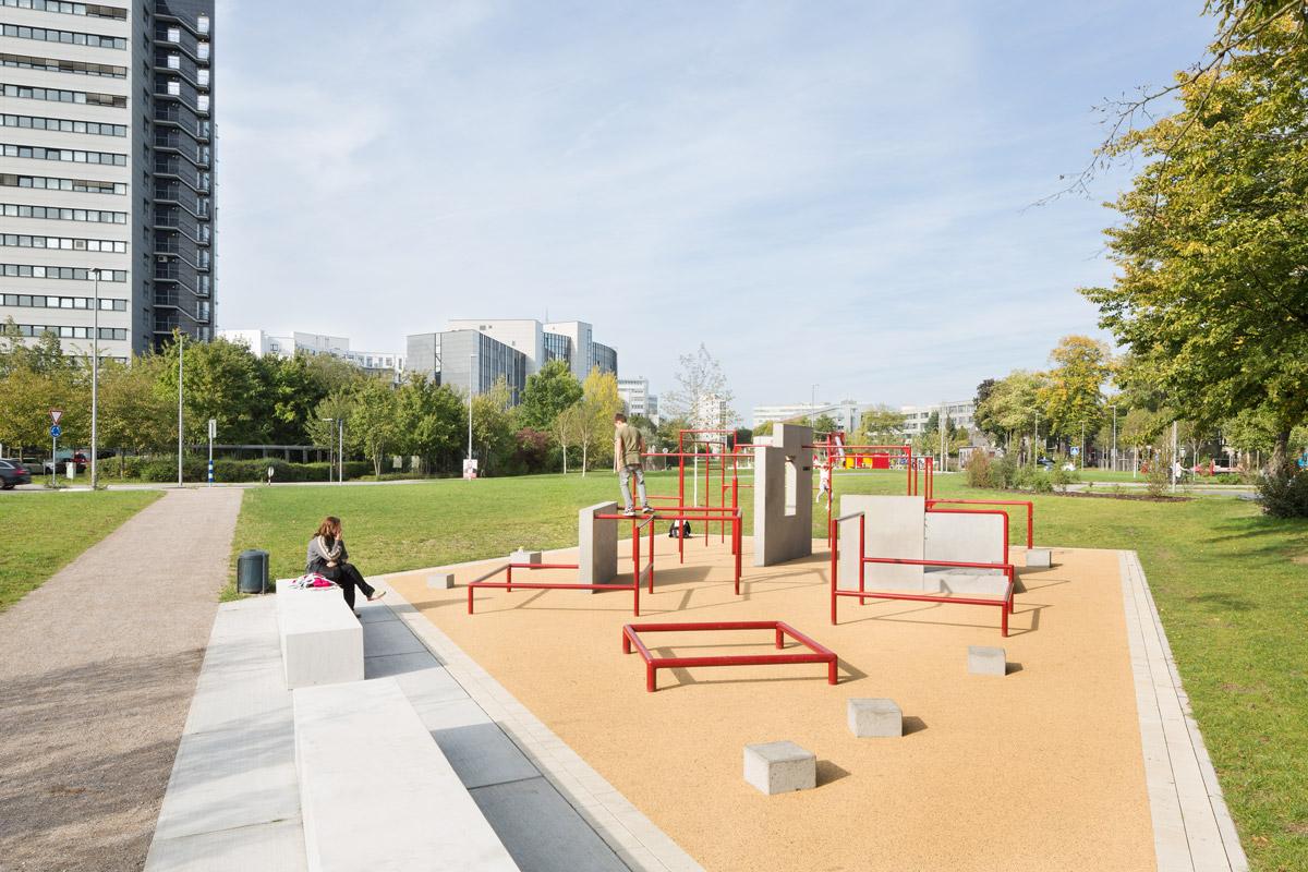 Stadt-Natur-Park-Flingern Parkur
