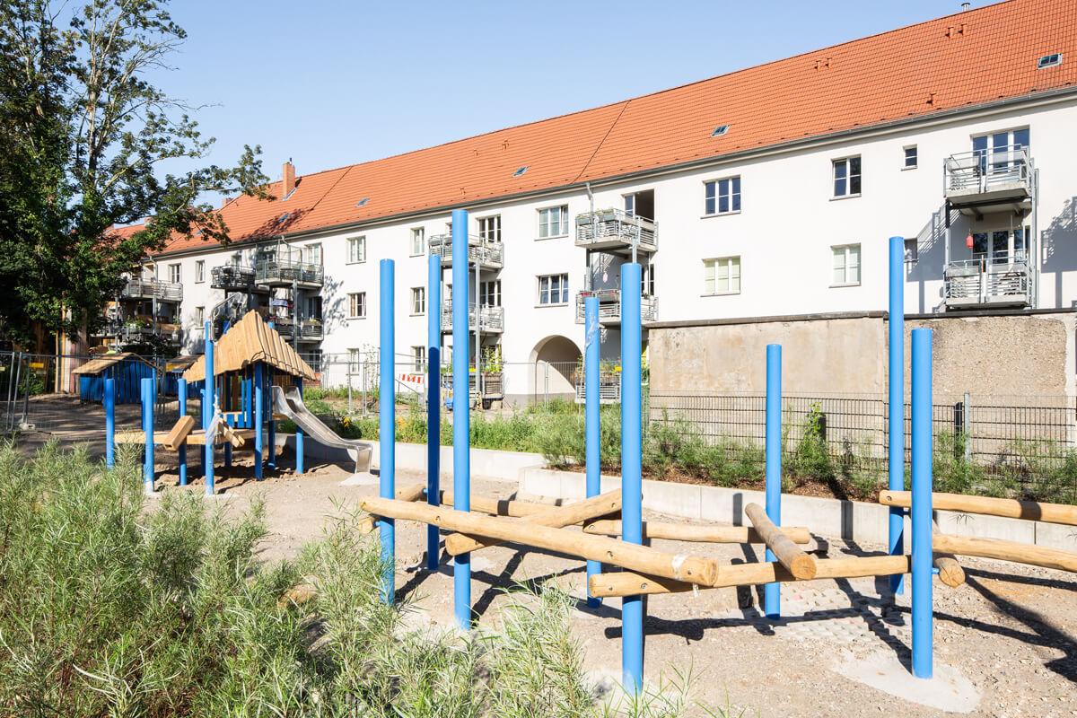 Baustelle Außenanlagen Wohnbebauung Häuschensweg