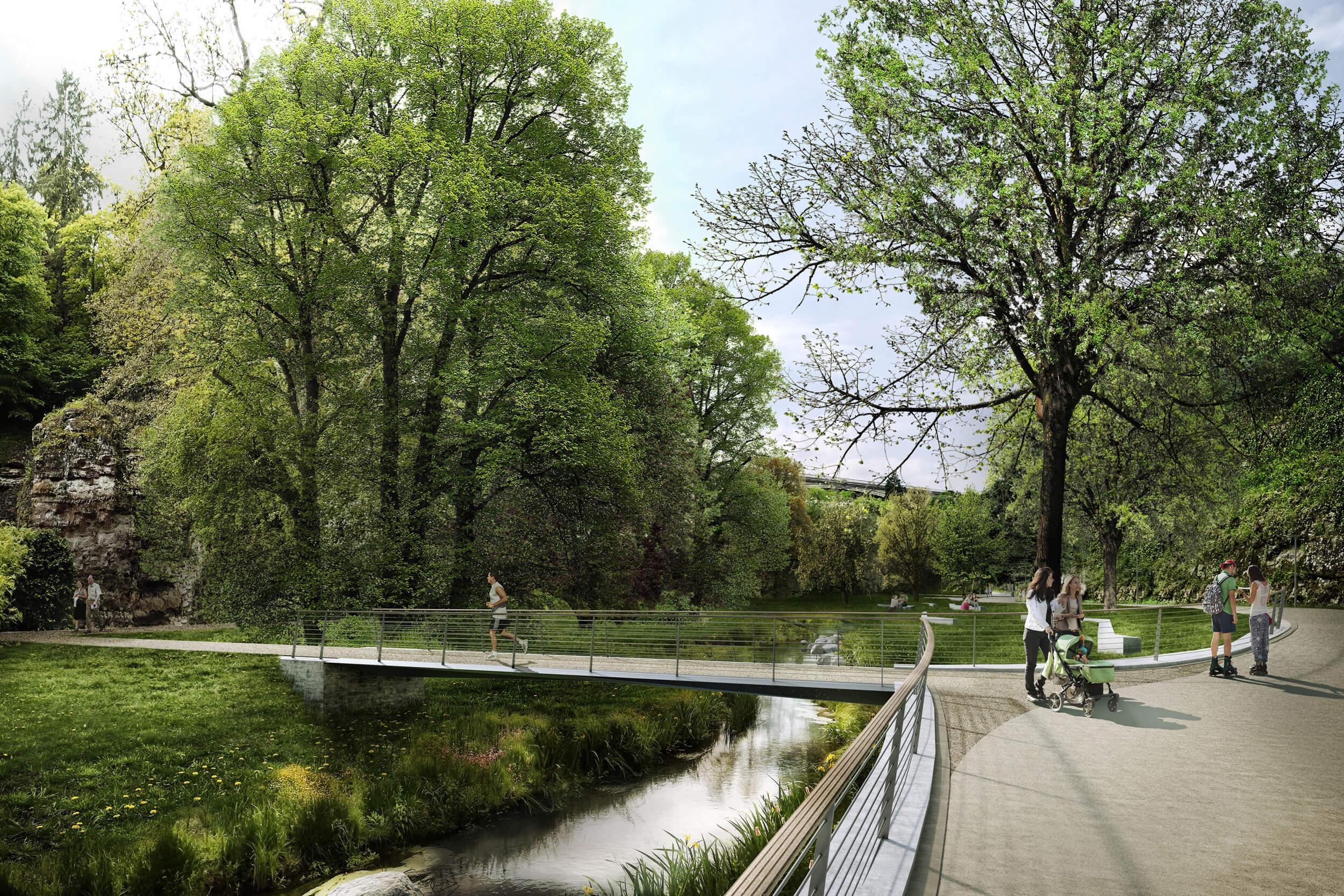 Vallee de la Petrusse Perspektive Park Mitte