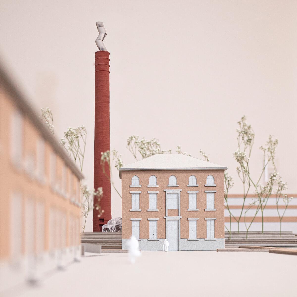 Zincoli-Kamin Modell Blick vom Zinkhütter Hof